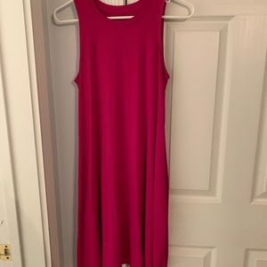fuchsia tank top dress